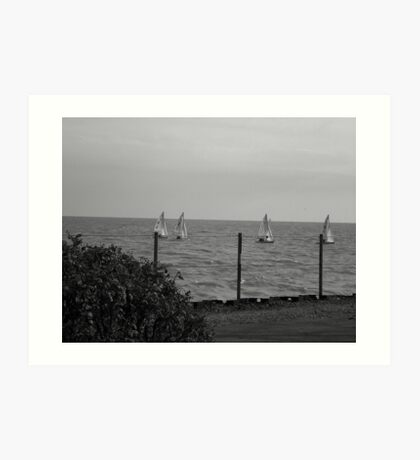 Lake Michigan, from Northwestern Univ. Evanston, IL Art Print