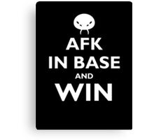 AFK and win - white Canvas Print