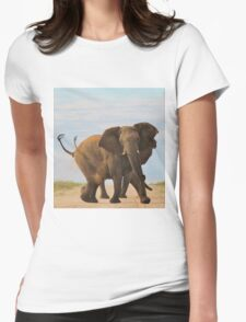 Elephant - Powerful Life Womens Fitted T-Shirt