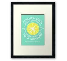 Travelling Lemon World Championship 2014 Framed Print