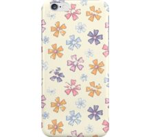 Grunge flower in retro style iPhone Case/Skin