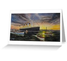 RMS Titanic entering New York Harbor 1912 Greeting Card