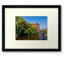 Historic Flour Mill.  Framed Print