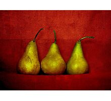 The Three Pears Photographic Print