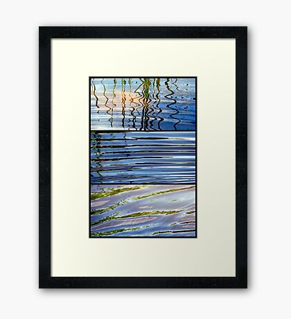 3 Minutes in The Ripple of Time - Triptych Framed Print