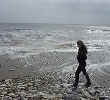 Walking on the seashore by Tanya Housham