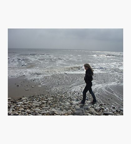 Walking on the seashore Photographic Print