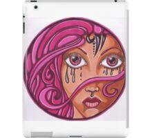 Pink Haired Woman Mandala iPad Case/Skin