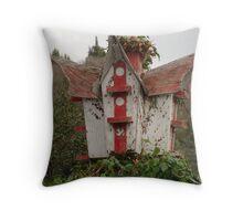 Old Bird House Throw Pillow