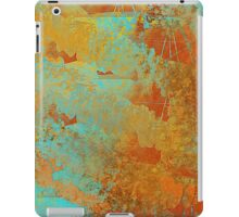 Abstract in Aqua and Copper iPad Case/Skin