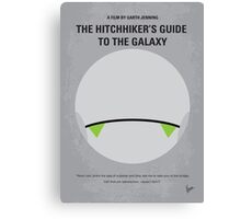 No035 My Hitchhiker Guide minimal movie poster Canvas Print