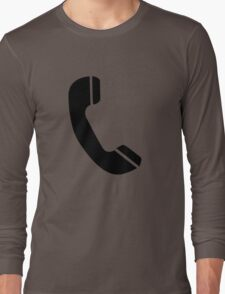 Retro Black Telephone Long Sleeve T-Shirt