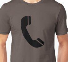 Retro Black Telephone Unisex T-Shirt