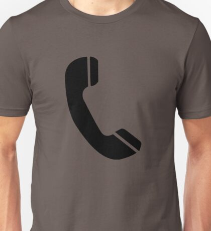 Retro Black Telephone Unisex T-Shirt