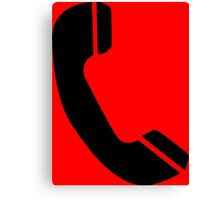 Retro Black Telephone Canvas Print