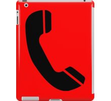 Retro Black Telephone iPad Case/Skin