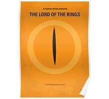 No039 My Lord Rings minimal movie poster Poster
