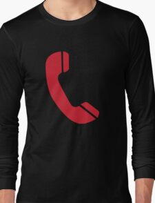 Red Telephone Long Sleeve T-Shirt