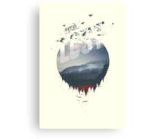 Happily lost Canvas Print
