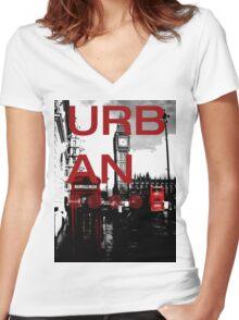 Bonkers - Urban London Women's Fitted V-Neck T-Shirt