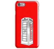 British Public Telephone Box iPhone Case/Skin