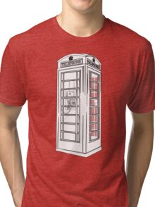 British Public Telephone Box Tri-blend T-Shirt