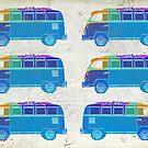 Pop Art VW Surfer Bus by Edward Fielding