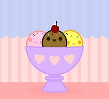 Kawaii ice cream by peppermintpopuk