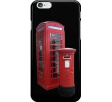 British Phone Booth and Post Office Box iPhone Case/Skin