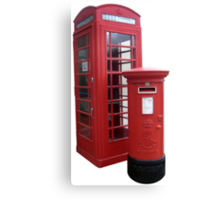 British Phone Booth and Post Office Box Canvas Print