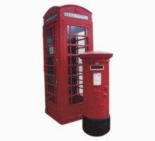 British Phone Booth and Post Office Box Kids Clothes