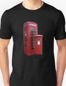 British Phone Booth and Post Office Box T-Shirt