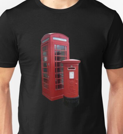 British Phone Booth and Post Office Box Unisex T-Shirt