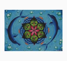 Dolphin and Lily pad mandala Kids Clothes