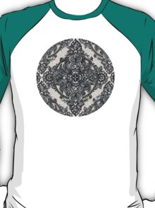 Charcoal Lace Pencil Doodle T-Shirt