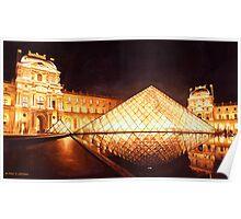 """""""Les Lumieres du Louvre"""" Watercolor Poster"""