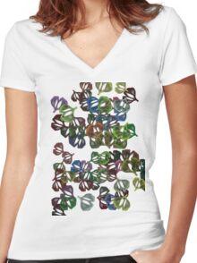Flor22 Women's Fitted V-Neck T-Shirt