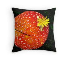 Mushroom SEason Throw Pillow
