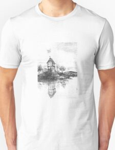 """""""By The River"""" Digitally Altered Drawing T-Shirt"""
