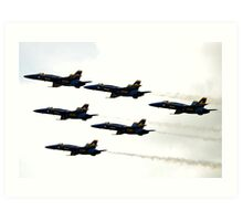 Blue Angels in the Sky Art Print