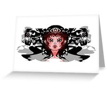 The Girl with her demons Greeting Card