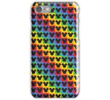 mickey mouse rainbow iPhone Case/Skin