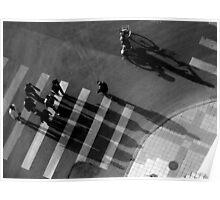 Bikes above I Poster