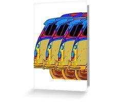 VDubs Surfer Vans Greeting Card