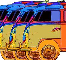 VDub Surfer Vans 2 by Edward Fielding