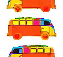 VW Surfer Vans 3 by Edward Fielding