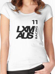 LXM Australia Racing #11 - Black Women's Fitted Scoop T-Shirt
