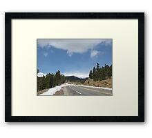 April Snow in the Colorado Mountains Framed Print