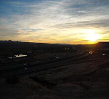 Mesquite, Nevada Sunset by kelleyh