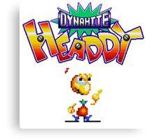 Dynamite Headdy - SEGA Genesis Title Screen Canvas Print